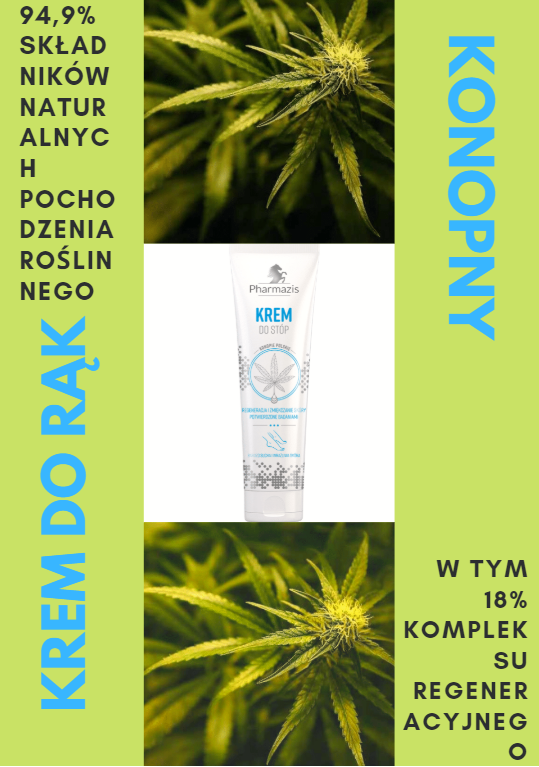 KONOPNY KREM DO RĄK PHARMAZIS 100 ML